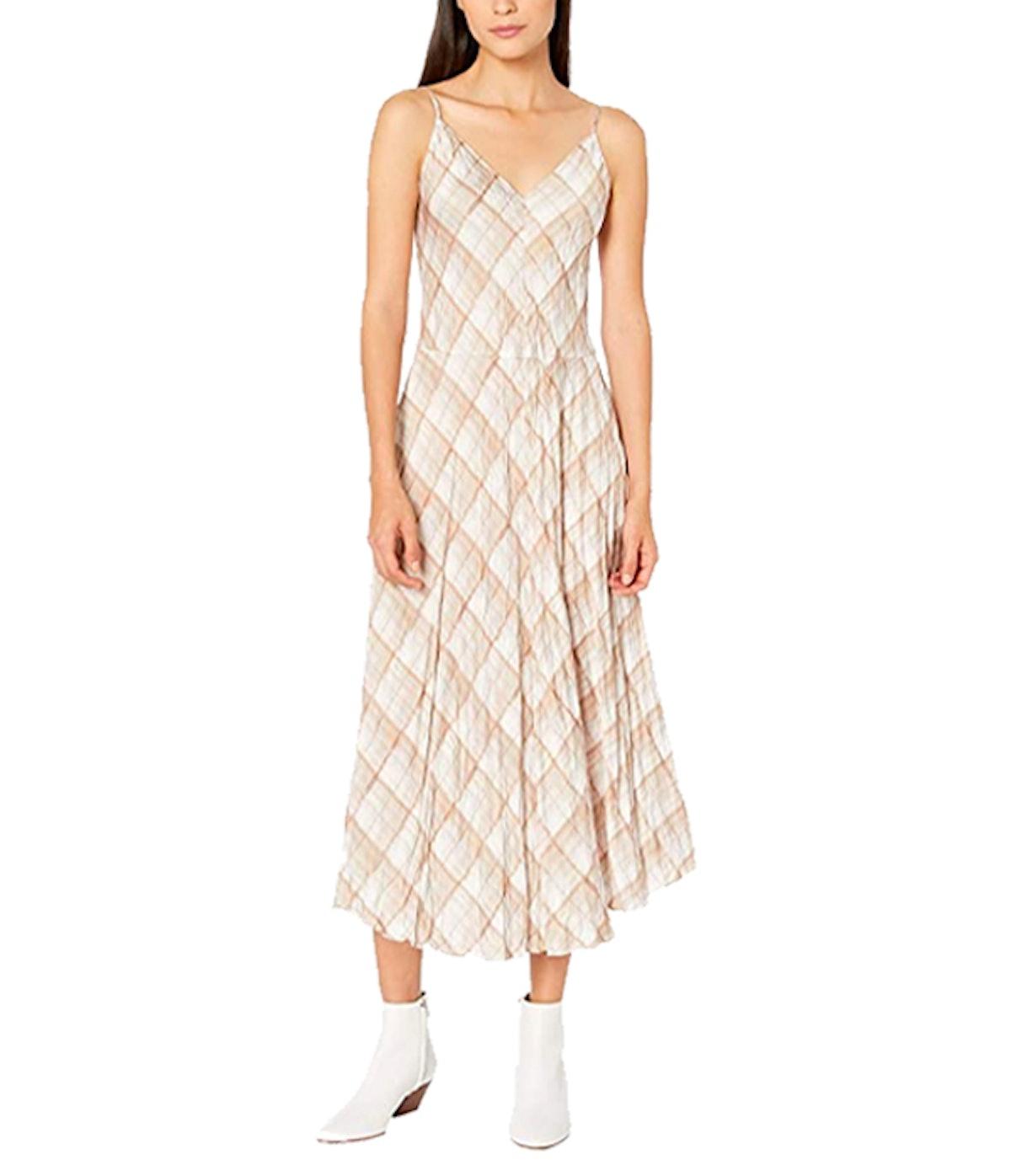 Hazy Plaid Cami Dress