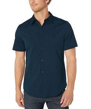 Calvin Klein Short-Sleeve Button-Down Stretch Shirt