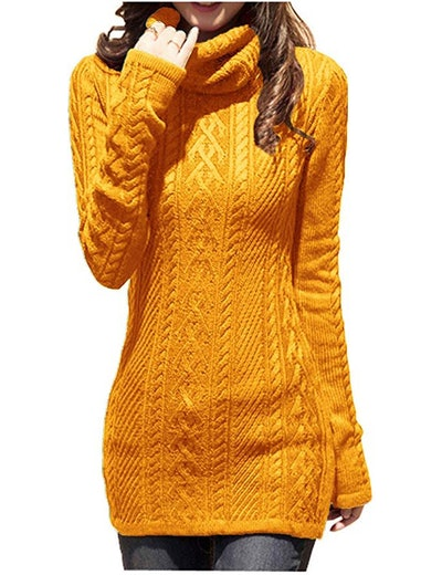 V28 Women's Knit Stretchable Long Sweater