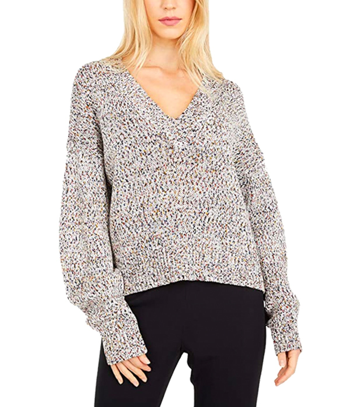 Multicolor V-Neck Sweater