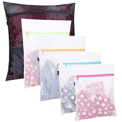 Set of 5 Mesh Laundry Bags