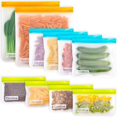 Qinline Reusable Storage Bags (10-Pack)