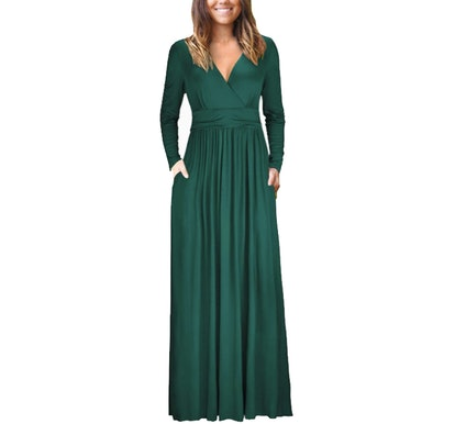 OUGES Womens Long Sleeve Maxi Dress