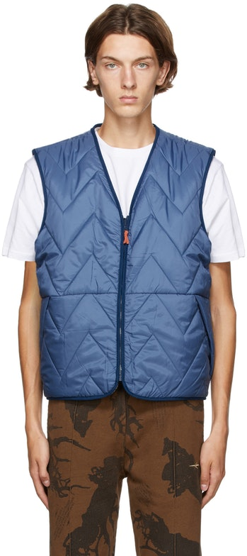 Levi's Made and & Crafted Reversible Blue Faux-Shearling Vest