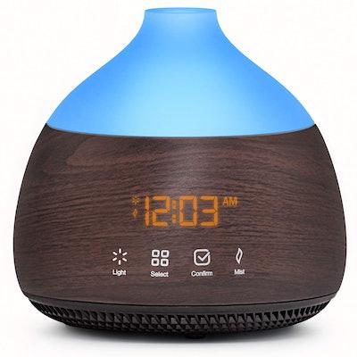 ASAKUKI Essential Oil Diffuser with Alarm Clock