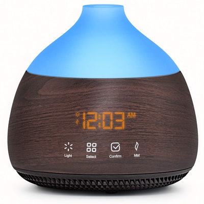 ASAKUKI Essential Oil Diffuser with Alarm Clock