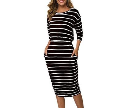 Moyabo Women's 3/4 Sleeve Pencil Dress