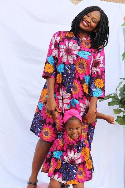 Mama of the Love Flower Burst - Jacket Dress