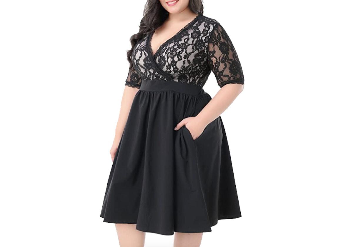 Nemidor Women's Lace Cocktail Swing Dress