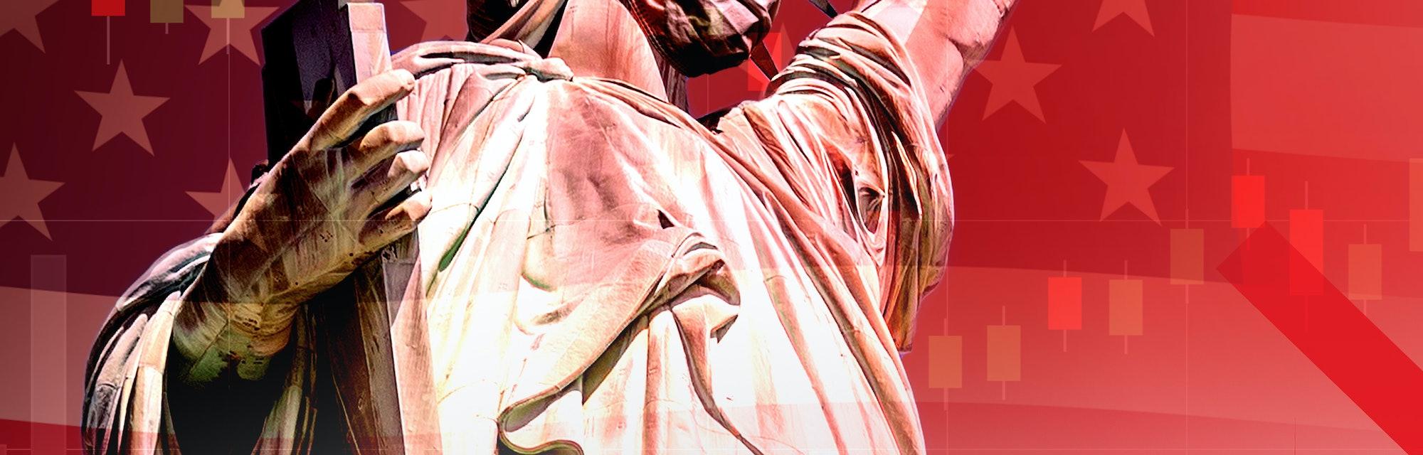United States, statue of liberty, coronavirus