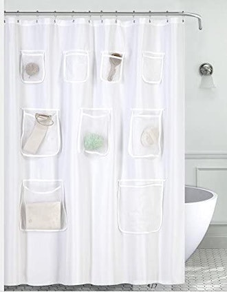 Mrs Awesome Water-Repellent Fabric Shower Curtain