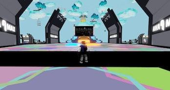 A screenshot of Ava Max's digital event space.