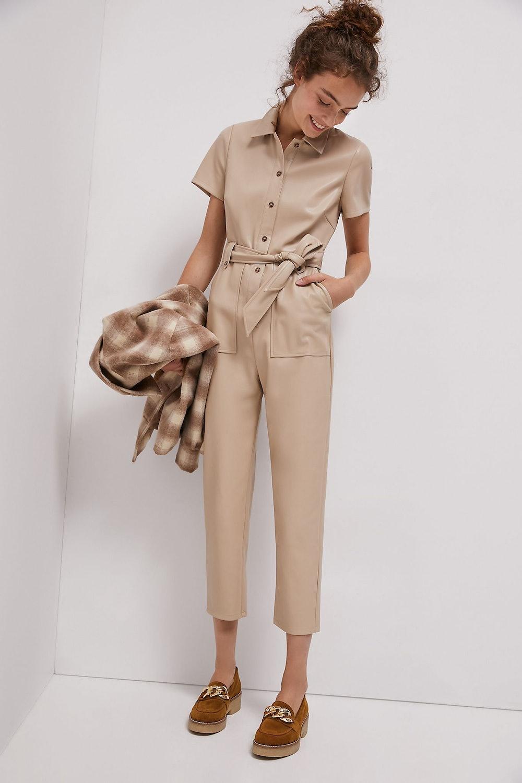 Cindy Faux Leather Jumpsuit