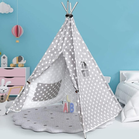 HAUEA Teepee Tent for Kids with Carry Case