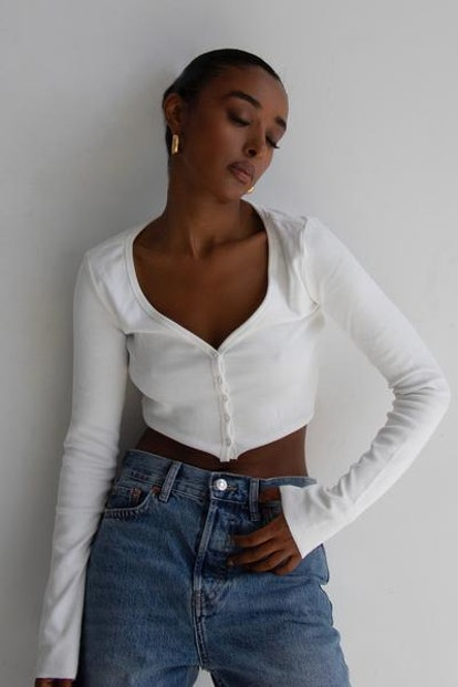 Ribbed Button Up Cardi