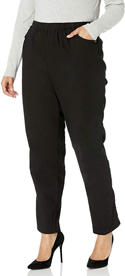 Chic Classic Collection Plus Size Stretch Pull-On Pant