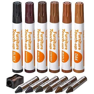 Katzco Furniture Repair Kit Wood Markers - Set of 13