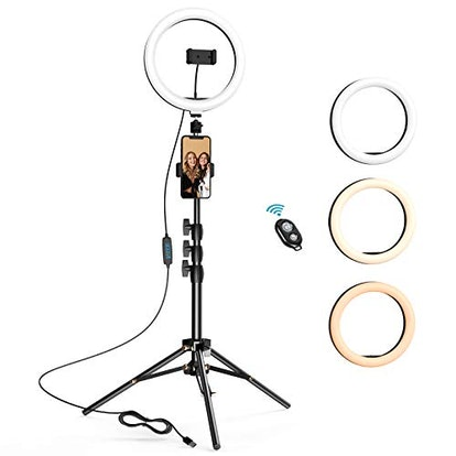 10.2 inch Selfie Ring Light with Tripod Stand