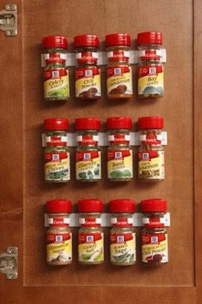 Bellemain Spice Gripper Clip Strips for Plastic Jars - Set of 3
