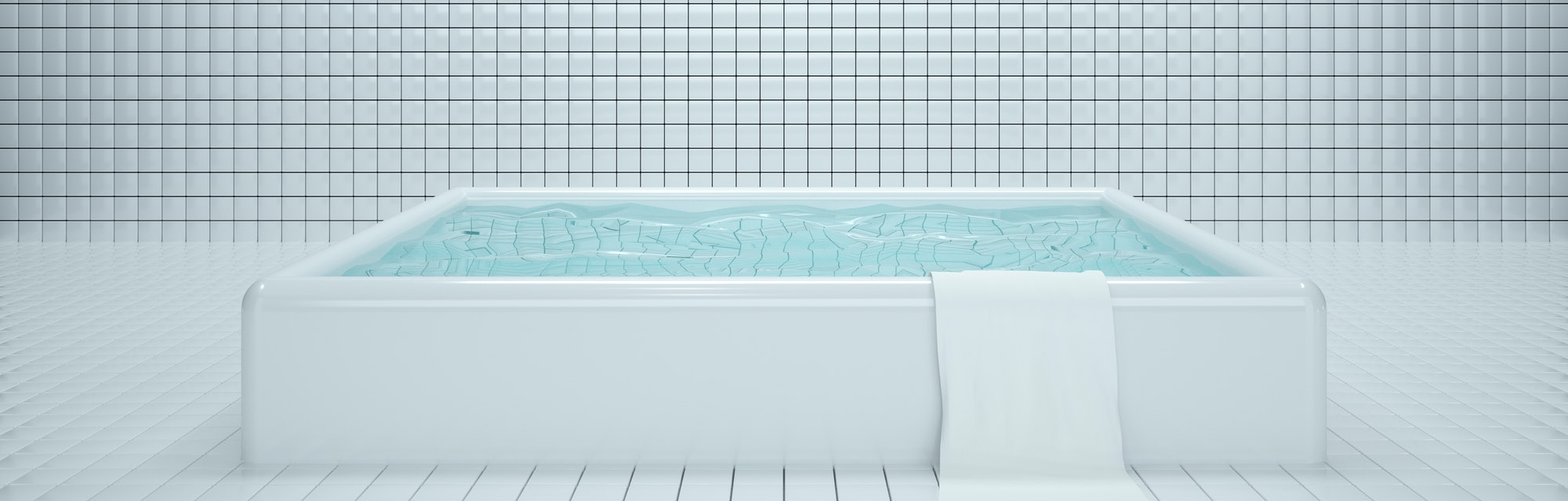 bath, tub, bathing