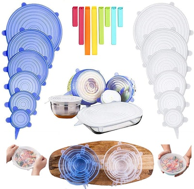 Be-one Silicone Stretch Food Covers (12-Pack)