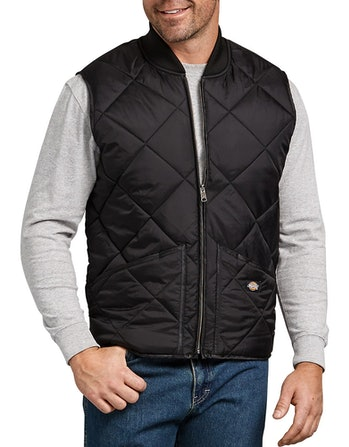 Dickies Quilted Nylon Vest Black
