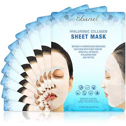 Ebanel 10 Pack Collagen Face Mask