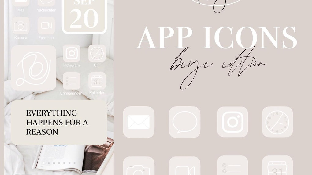 You can find iOS 14 app icon packs on Twitter or online shops like Etsy.com.