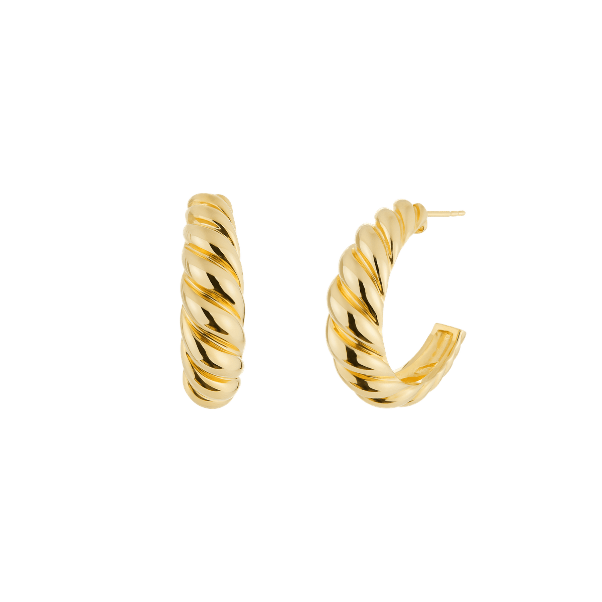 Large Croissant Dôme Hoops
