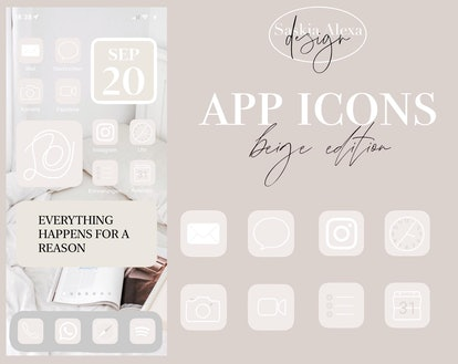 App Icons - beige/black edition + iPhone iOS14 Tutorial — SaskiaAlexaDesigns