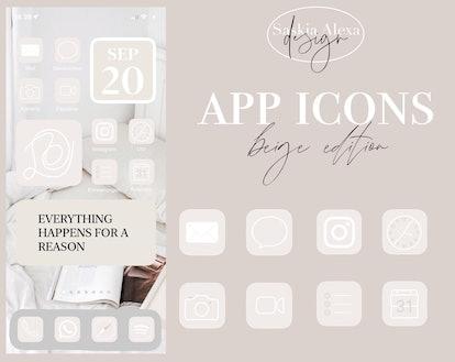 App Icons - beige/black edition + iPhone iOS14 Tutorial