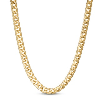 """Cuban Chain Necklace 10K Yellow Gold 24"""""""