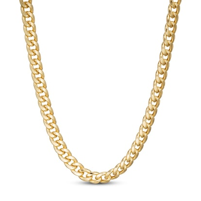 Cuban Chain Necklace 10K Yellow Gold 24""