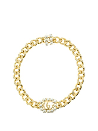 GG Faux-Pearl Choker Necklace