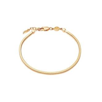 Gold Square Snake Chain Bracelet