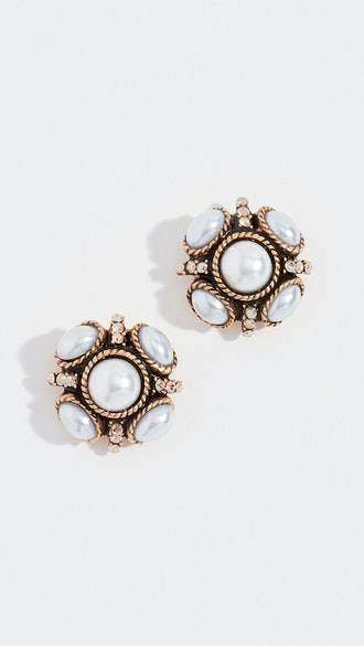 Classic Button Earrings