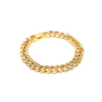 Cuban Crystal Chain Bracelet or Choker