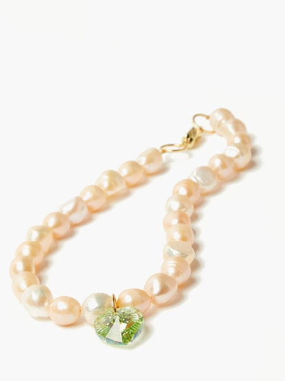 Pearl & 24kt Gold-Plated Choker