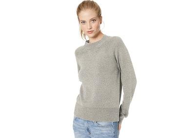 Daily Ritual Cotton Mock-Neck Pullover