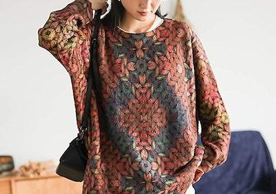 YESNO Printed Sweater