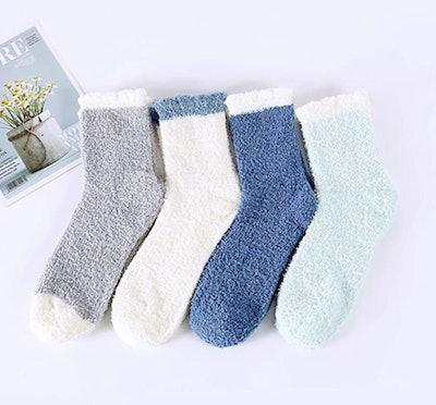 Zando Fuzzy Socks (4-Pack)