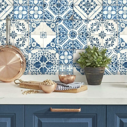 RoomMates Mediterranian Tile Peel-and-Stick Wallpaper