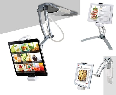 CTA Digital 2-in-1 Kitchen Tablet Stand Wall