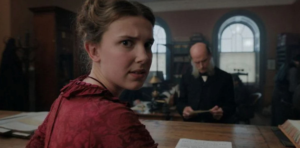 Millie Bobby Brown in Enola Holmes on Netflix