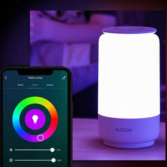 HUGOAI Dimmable Bedside Lamp