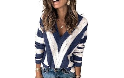 Asvivid V-Neck Knitted Sweater