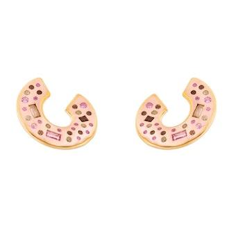 Fair Lady Small Curved Hoop Earrings