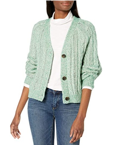 cupcakes and cashmere Athena Cable Knit Cardigan
