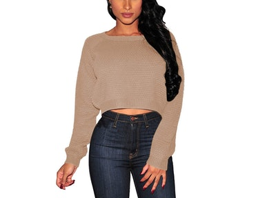 Pink Queen Cropped Sweater