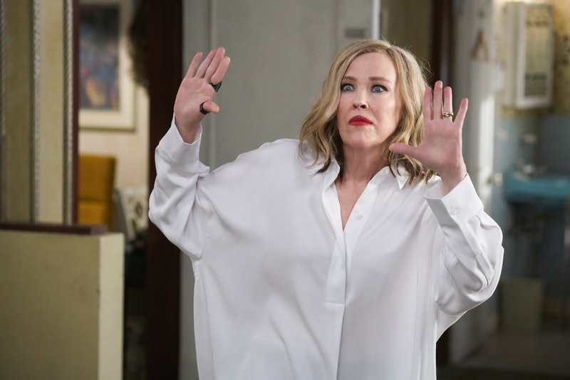 Catherine O'Hara stars as Moira Rose on Schitt's Creek.